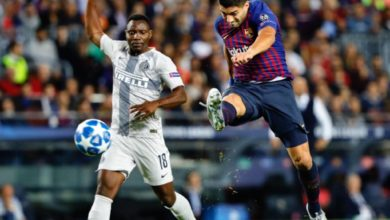 Kwado 390x220 - UEFA CL: Kwadwo Asamoah Shines As Inter Milan Snatch Late Point At Home To FC Barcelona