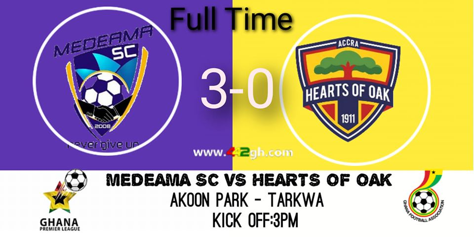 Photo of GPL Sunday Round Up: Medeama SC Demolish Hearts, Aduana Nail Dade Boys As Miners Extend winning Start