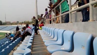 Photo of Dust and dirty Accra and Cape Coast Stadium seats