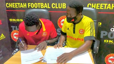 Photo of CHEETAH FC SIGNS VIPERS CENTRAL DEFENDER ABDULAI SLIMBA
