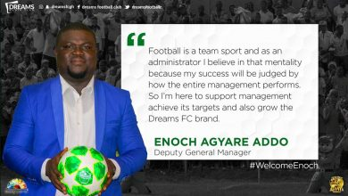 Photo of Enoch Agyare Addo named Dreams FC Deputy General Manager