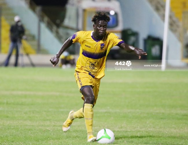 Eric Kwakwa Medeama 650x501 - Pictures - Exclusive images from Legon Cities vs Medeama SC Ghana Premier League game in Accra