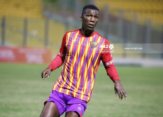 Abednego Tetteh in Action for hearts 650x504 1 650x470 - Hearts of Oak's Abednego Tetteh Dream Of Winning AFCON With Black Stars