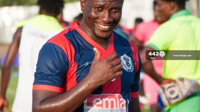 Asamoah Gyan in Legon Cities 390x220 - Legendary Asamoah Gyan  nominated for most attractive player in GPL