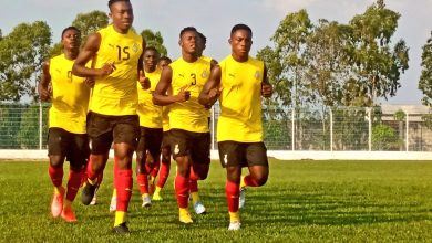 Satellites 12 390x220 - PHOTOS: Black Satellites recovery training after win over Nigeria