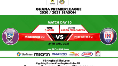 490B3209 A4AB 4BCA BF93 5B77674988DC 390x220 - Matchday 10 Preview: Medeama SC vs Inter Allies
