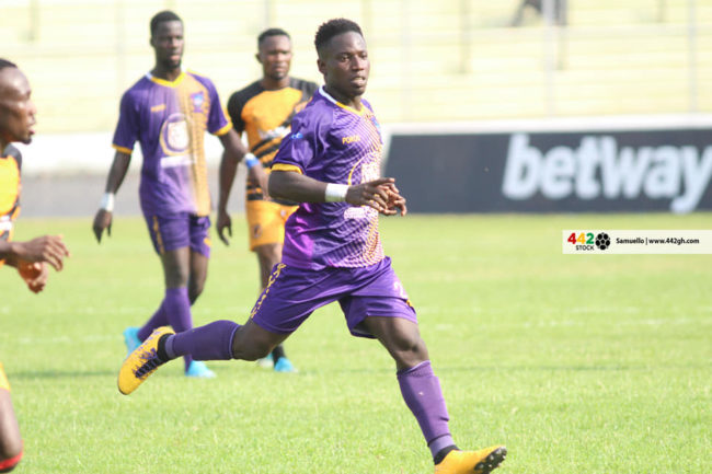 Rashid Nortey in Action 1 650x433 - Full Album - Ashantigold SC 0-0 Medeama SC Ghana Premier League Match