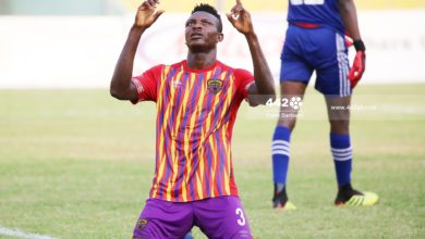 Victor Oduro Hearts of Oak 390x220 - Match Report - Elmina Sharks 1-1 Hearts of Oak, Victor Aidoo powers Phobians to points split in Edina