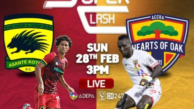 BA78F148 2752 48ED AD0E 6A89102BA68F 390x220 - Kotoko vs Hearts of Oak: Preview, Team News, Lineups & TV Channels to watch the game