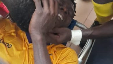 Justice Blay 390x220 - Horror - Justice Blay suffers Monstrous injury in game against Legon Cities