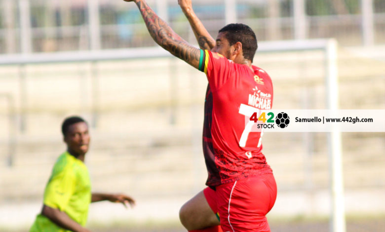 Vini 780x470 - PICTURE SPECIAL: Michael Vinicius' First Appearance In A Kotoko Shirt Against Bechem United