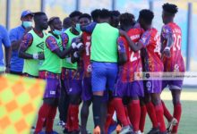 hearts celebrate 220x150 - Done Deal: Accra Hearts of Oak SC Loses Another Midfielder To Local Rival In Surprise Transfer